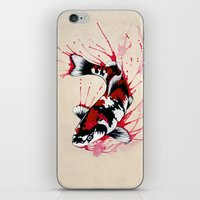 koi fish iPhone & iPod Skins featuring Koi by Puddingshades