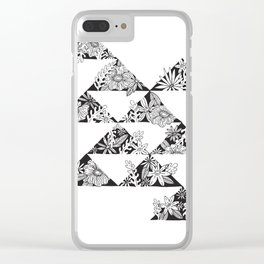 botanical triangles Clear iPhone Case