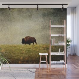 Lone Buffalo Wall Mural