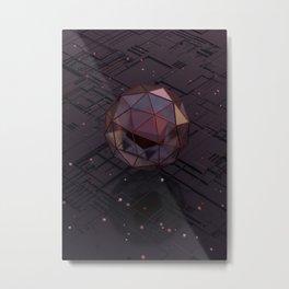 Encased in Glass Metal Print