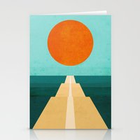 road Stationery Cards featuring The Road Less Traveled by Picomodi