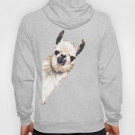 Sneaky Llama White Hoodie