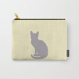Grey Cat Carry-All Pouch