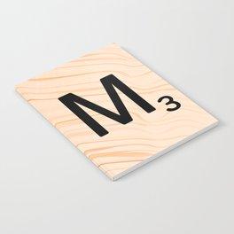 Scrabble Letter M - Large Scrabble Tiles Notebook