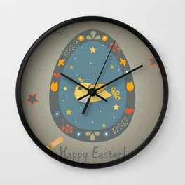 Easter Bird Wall Clock