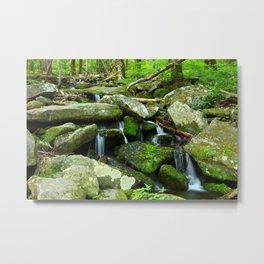 Running Water Metal Print