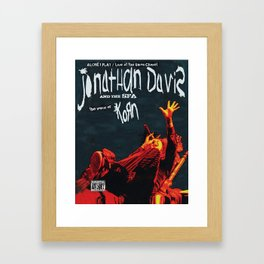 JONATHAN DAVIS THE VOICE TOUR DATES 2019 FIZI Framed Art Print
