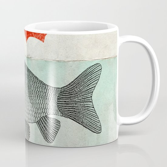 Umbrella Goldfish Coffee Mug