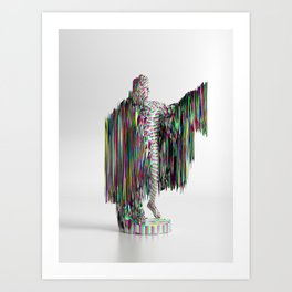 Apollo Glitched Art Print