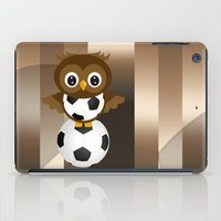 soccer iPad Cases featuring Soccer Owl by Simone Gatterwe