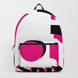 Shit pot social media app logo in black and pink Backpack