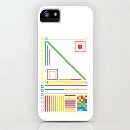 Lines, Colors and Shapes  No. 2 iPhone Case