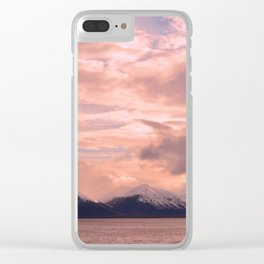 Rose Quartz Over Hope Valley Clear iPhone Case