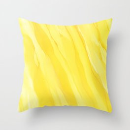 #030 - Monochrome Ink in Yellow Throw Pillow