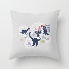 Dinosaur Jello Debutante Party Throw Pillow