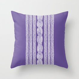 Cable Stripe Violet Throw Pillow