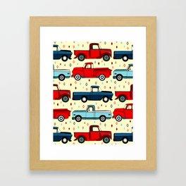 Winter Vintage Trucks Framed Art Print