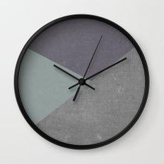 Concrete & Triangles Wall Clock