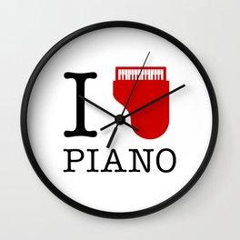 I Love Piano Wall Clock