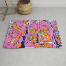 PopArt Noodles Pink in Milano Rug