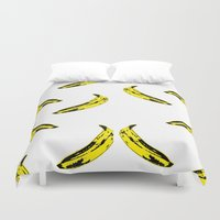 banana Duvet Covers featuring Banana! by MrWhite