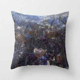 GALATHI Flower Spring is Here Stars - Flowers Throw Pillow