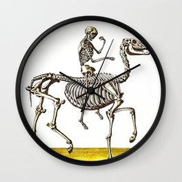 Horse Skeleton & Rider Wall Clock