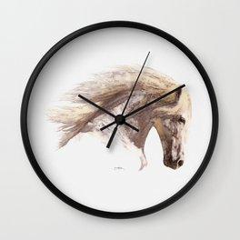 Silverwind - A Pegasus Stallion Study Wall Clock