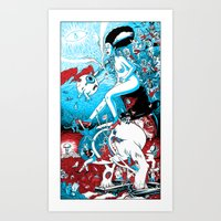 A Night in the Dreams of a Young Demento's Earthly Delights Art Print