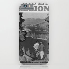 retro classic Tahoe Lake Region poster iPhone Case