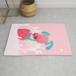 Strawberry poison milk 1 Rug