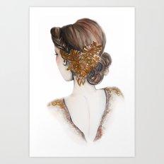 Hair Brooch // Fashion Illustration Art Print