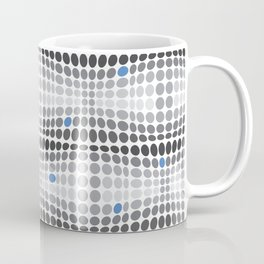 Dottywave - Grey and blue wave dots pattern Coffee Mug