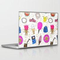 90s Laptop & iPad Skins featuring Growing Up in the 90s by Caroline Sansone