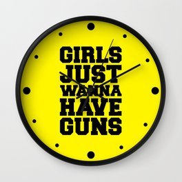 Girls Have Guns Gym Quote Wall Clock