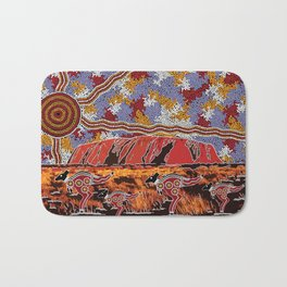 Uluru (Ayers Rock) Authentic Aboriginal Art Bath Mat