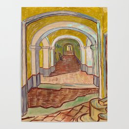 Corridor in the Asylum by Vincent Van Gogh Poster