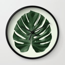 Monstera_1 Wall Clock