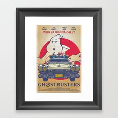 Who ya gonna call? Ghostbusters Movie Poster Framed Art Print