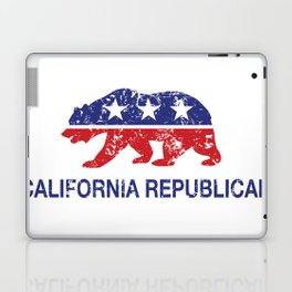 California Political Republican Bear Distressed Laptop & iPad Skin