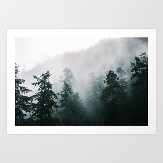 Forest Fog IX Art Print