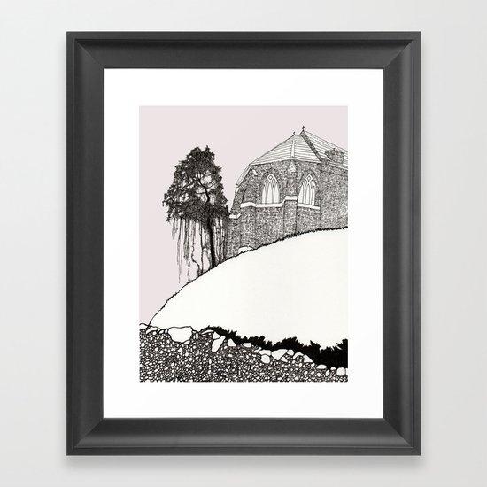 St. Vigeans (black and white) Framed Art Print