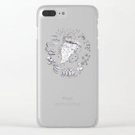 Pizza Art Mandala Clear iPhone Case