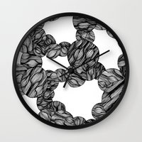 muscle Wall Clocks featuring Muscle Marbles by Shifra Whiteman
