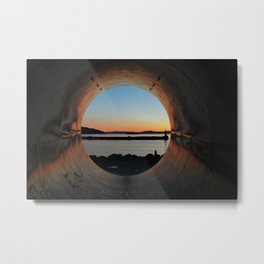 View through the tunnel. Metal Print