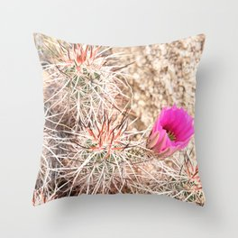 Prickly Pink Throw Pillow