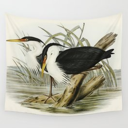 Pied Egret (Herodias picata) illustrated by Elizabeth Gould (1804-1841) for John Goulds (1804-1881) Wall Tapestry