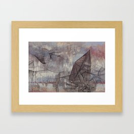 Crossing the Blurred Line Between Us Framed Art Print