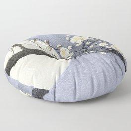 Full Moon and blossom Floor Pillow