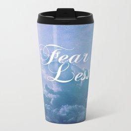 Fearless in a beautiful cloudy sky Metal Travel Mug